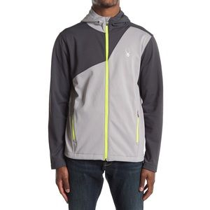 Spyder Hydroweb grey full zip hooded jacket